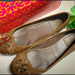 Tory Burch embossed leather ballet flat